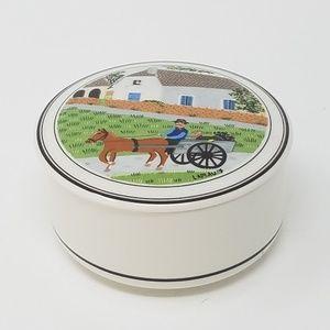 Villeroy & Boch white porcelain trinket candy box